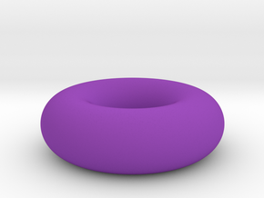 Tore - Torus in Purple Processed Versatile Plastic