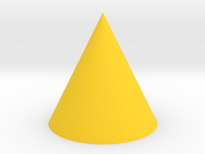 Cone in Yellow Processed Versatile Plastic