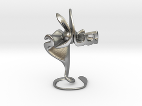 Hubb fee Salam (Love in Peace) - Sculpture in Natural Silver