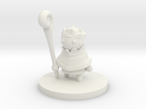 Druid (small) in White Natural Versatile Plastic