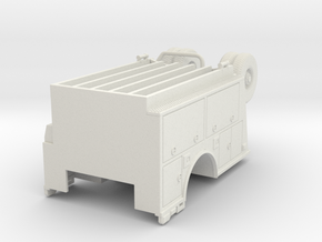 1/87 KME body with Compartment Doors #1 in White Natural Versatile Plastic