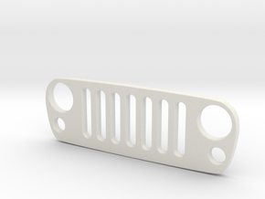 Jeep JK Keychain in White Natural Versatile Plastic