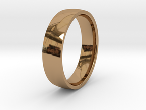 Comfortable men's ring in Polished Brass