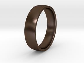 Comfortable men's ring in Polished Bronze Steel