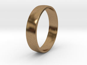 Outer ring for DIY bicolor ring in Natural Brass