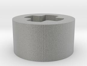 1 x 1 x 1-2 F axle hole in Metallic Plastic