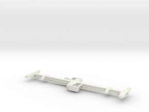 "Flat car for 2 containers ""Fish Bone"" - Vagón espi in White Natural Versatile Plastic"