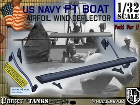 1/32 PT Boat Airfoil Wind Deflector Set001 in Smooth Fine Detail Plastic
