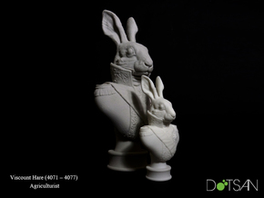 Small Viscount Hare Bust in White Natural Versatile Plastic