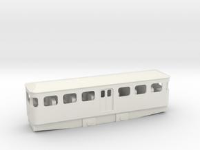 OO9 4mm DMU Tram in White Natural Versatile Plastic