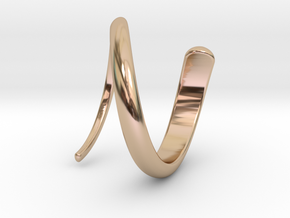 Swirl Drink Marker Ring in 14k Rose Gold Plated Brass