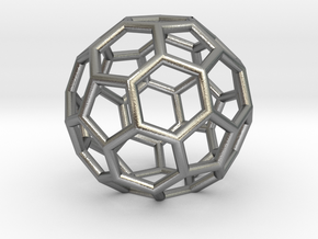 Buckyballs Geodesic Dome Fullerene in Natural Silver