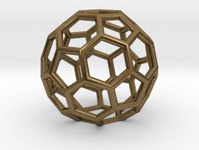 Buckyballs Geodesic Dome Fullerene in Natural Bronze