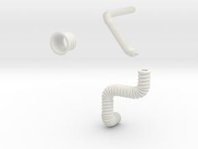 Gummiteile für Huesker Flexcoversystem in White Natural Versatile Plastic