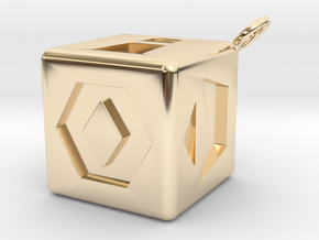Han Solo's single Dice  in 14k Gold Plated