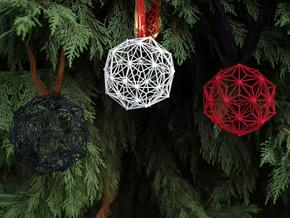 3D Printed Christmas Ball in Black Natural Versatile Plastic