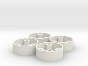 4 jantesAV GLA D20 pour flans 3D in White Natural Versatile Plastic