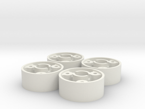 4 jantes MR03 avant D20 pour flans 3D +0,5 in White Natural Versatile Plastic