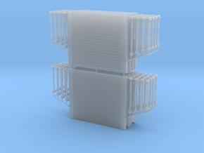 1/87 H0 Verbaukästen/Verbauboxen 4 St. 3,0x2,6m (l in Smooth Fine Detail Plastic