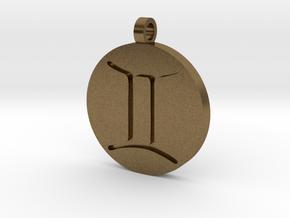 Gemini Pendant in Natural Bronze