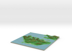 Terrafab generated model Mon Jan 29 2018 21:53:11  in Full Color Sandstone