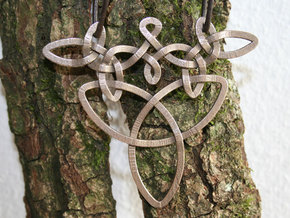 Medallion trefoil in Polished Bronzed Silver Steel
