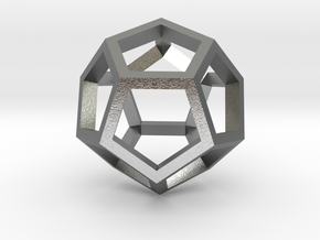 Regular Dodecahedron Mesh in Natural Silver