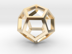 Regular Dodecahedron Mesh in 14K Yellow Gold