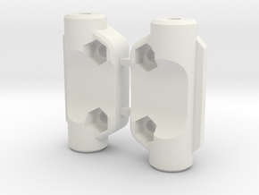 0001 - Astute, D1 Rear Blocks (Pair) in White Natural Versatile Plastic