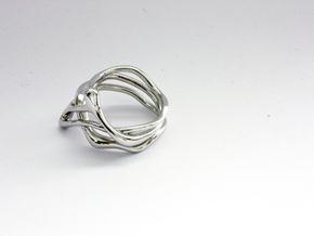 Euterpe ring in Rhodium Plated