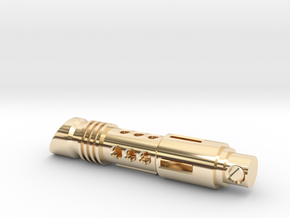 lightsaber tritium keychain in 14k Gold Plated Brass