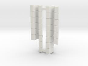 Missile Doors in White Natural Versatile Plastic: 1:72