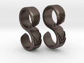 Hammock Hook Rings in Polished Bronzed Silver Steel: 7 / 54