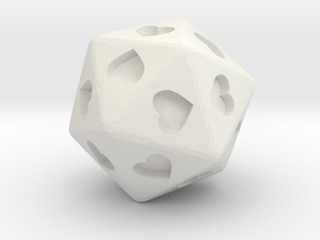 d20 Hearts in White Premium Strong & Flexible
