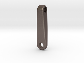 Tamiya upper control arm (no angle) in Polished Bronzed Silver Steel