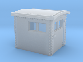 N&W Style Dog House HO Scale 1:87 in Smooth Fine Detail Plastic
