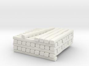 N Scale Standard Gauge Cross Tie Partial Stack in White Natural Versatile Plastic