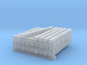 HO Scale Standard Gauge Cross Tie Partial Stack in Smooth Fine Detail Plastic