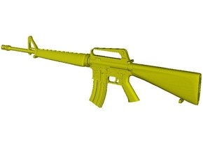 1/18 scale Colt M-16A1 rifle x 1 in Smooth Fine Detail Plastic