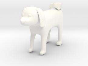 Standing dog2 in White Processed Versatile Plastic