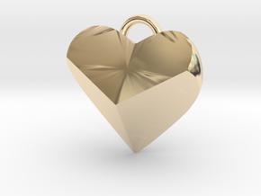 Geometric Heart Pendant in 14K Yellow Gold