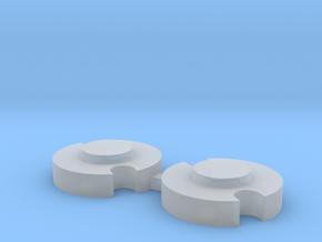 John Deere 110 Rear Double Notch Wheel Weights in Smoothest Fine Detail Plastic