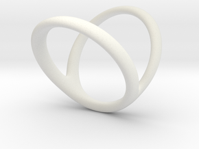 ring for Jessica pinkie-finger in White Natural Versatile Plastic