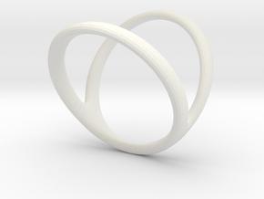 ring for Jessica thumb-finger in White Premium Strong & Flexible