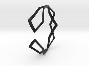 HIDDEN HEART Sharp M, Bracelet in Black Premium Versatile Plastic: Extra Small