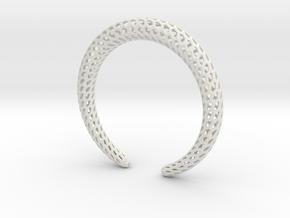 DRAGON Strutura, Bracelet. in White Natural Versatile Plastic: Medium