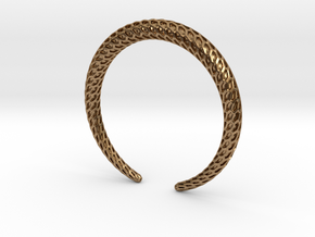 DRAGON Solid, Bracelet. Pure, Strong. in Natural Brass: Medium