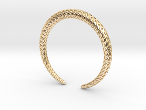 DRAGON Solid, Bracelet. Pure, Strong. in 14K Yellow Gold: Medium
