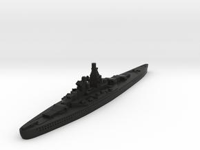 Alsace Class Battleship (France) Global War Scale in Black Premium Versatile Plastic