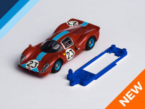 1/32 Scalextric Ferrari P4 Chassis for Slot.it IL in Blue Strong & Flexible Polished